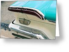 1958 Edsel Pacer Tail Light Greeting Card