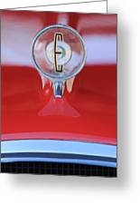 1958 Edsel Ranger Hood Ornament 2 Greeting Card