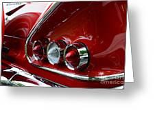1958 Impala Tail Lights Greeting Card