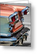 1958 Pontiac Bonneville Taillights Greeting Card