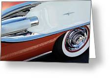 1958 Pontiac Bonneville Wheel Greeting Card