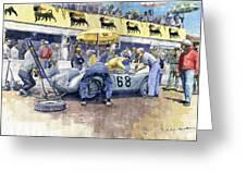 1958 Targa Florio Porsche 718 Rsk Behra Scarlatti 2 Place Greeting Card