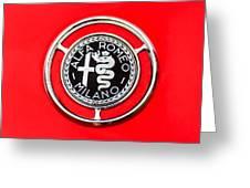 1959 Alfa-romeo Giulietta Sprint Emblem Greeting Card by Jill Reger