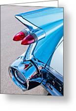 1959 Cadillac Eldorado 62 Series Taillight Greeting Card