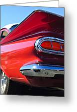 1959 Chevrolet Biscayne Taillight Greeting Card