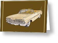 1959 Chevrolet Impala Convertible Greeting Card