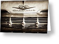 1959 Chevrolet Impala Grille Emblem -1014s Greeting Card