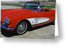 1959 Corvette Greeting Card