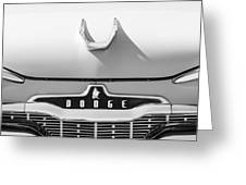 1959 Dodge Coronet Emblem - Hood Ornament -0903bw Greeting Card
