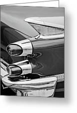 1959 Dodge Custom Royal Super D 500 Taillight -0233bw Greeting Card