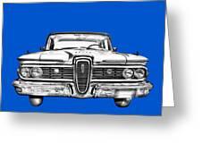 1959 Edsel Ford Ranger Illustration Greeting Card
