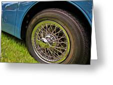 1959 Jaguar X K 150s Wire Wheel Greeting Card