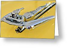 1959 Nash Metropolitan Coupe Hood Ornament Greeting Card