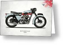 1959 T120 Bonneville Greeting Card