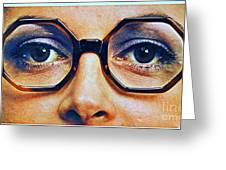 1960 70 Stylish Female Glasses Advertisement 4 Greeting Card