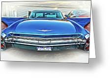 1960 Cadillac - Vignette Greeting Card