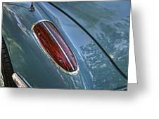 1960 Chevrolet Corvette Tail Light Greeting Card