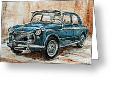1960 Fiat 1100 103 H Greeting Card