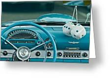 1960 Ford Thunderbird Dash Greeting Card