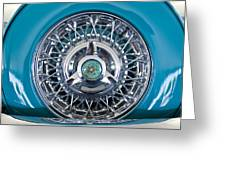 1960 Ford Thunderbird Spare Tire Greeting Card