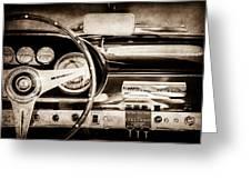 1960 Maserati 3500 Gt Spyder Steering Wheel Emblem -0407s Greeting Card