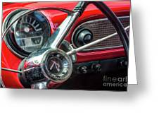 1960 Rambler Dashboard Greeting Card