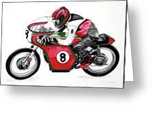1960s Ducati Desmo Greeting Card