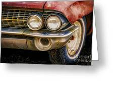 1961 Cadillac Headlight Greeting Card