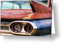 1961 Cadillac Tail Light And Fin Greeting Card