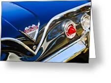 1961 Chevrolet Bel Air Impala Ss Bubble Top Tail Light Emblem -0249c Greeting Card
