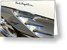 1961 Chevrolet Corvette Abstract Greeting Card