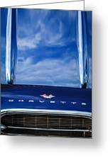 1961 Chevrolet Corvette Grille Greeting Card