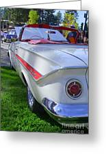 1961 Chevrolet Impala Convertible Greeting Card