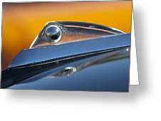 1961 Ford Starliner Hood Ornament Greeting Card