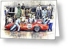 1961 Le Mans 1961 Ferrari 250 Tri Olivier Gendebien Phil Hill Winner  Greeting Card