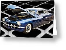 1951 Mercury Classic Car Photograph 002.02 Greeting Card