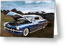1951 Mercury Classic Car Photograph 005.02 Greeting Card