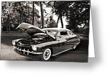 1951 Mercury Classic Car Photograph 006.01 Greeting Card