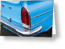 1961 Rambler Cross Country Tail Light Greeting Card
