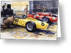 1961 Spa-francorchamps Ferrari Garage Ferrari 156 Sharknose  Greeting Card