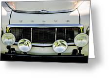 1961 Volvo Pv544 Grille Emblem -1511c Greeting Card