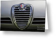1962 Alfa Romeo Grille Greeting Card