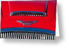 1962 Austin Healey 3000 Mk II Hood Emblem -0324c Greeting Card