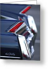 1962 Cadillac Deville Taillights Greeting Card