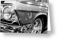 1962 Chevrolet Belair Bubbletop Greeting Card