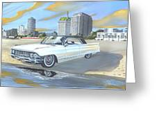 1962 Classic Cadillac Greeting Card