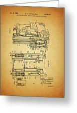 1962 Forklift Patent Greeting Card