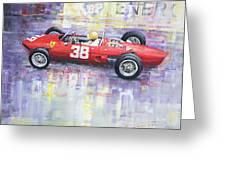1962 Ricardo Rodriguez Ferrari 156 Greeting Card