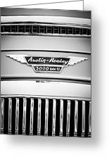 1963 Austin-healey 3000 Mk II Black And White Greeting Card