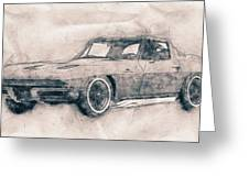 1963 Chevrolet Corvette Sting Ray - 1963 - Automotive Art - Car Posters Greeting Card